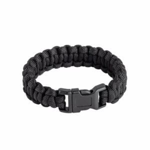 Bracelet de survie tressé en paracorde noir TOE Concept