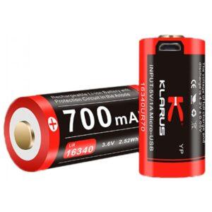 Batterie 700 mAh rechargeable pour lampe Klarus