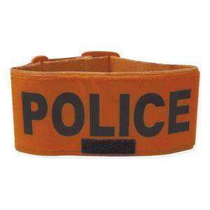 Brassard fluo orange police Patrol Equipement