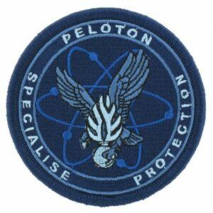 Ecusson tissu gendarmerie Peloton Spécialisé Protection bleu