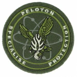 Ecusson tissu gendarmerie Peloton Spécialisé Protection vert