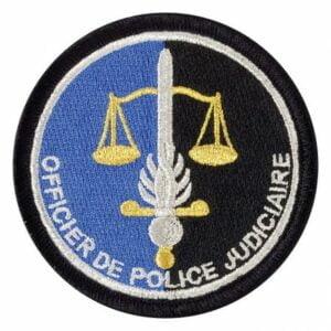 Ecusson tissu gendarmerie Officier de police judiciaire