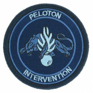 Ecusson tissu gendarmerie Peloton intervention bleu