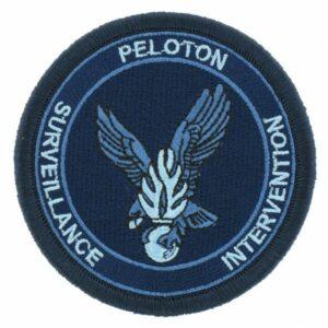 Ecusson tissu gendarmerie Peloton de surveillance et d'intervention bleu psig