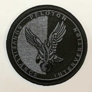Ecusson tissu gendarmerie Peloton de surveillance et d'intervention noir psig