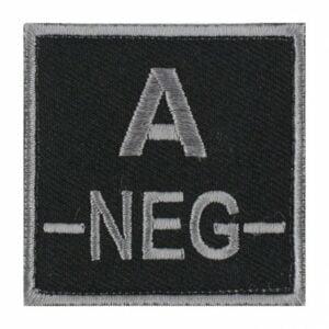 Patch groupe sanguin A neg noir