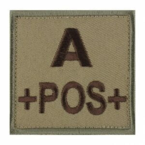 Patch groupe sanguin A pos coyote