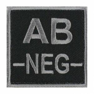 Patch groupe sanguin AB neg noir