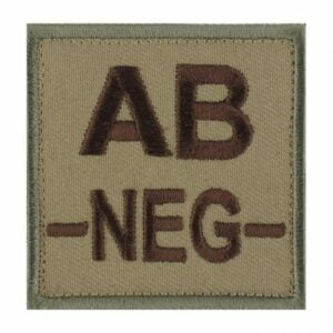 Patch groupe sanguin AB neg coyote