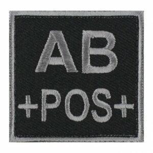 Patch groupe sanguin AB pos noir