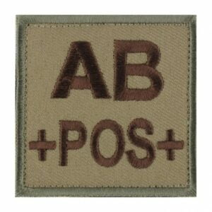 Patch groupe sanguin AB pos coyote