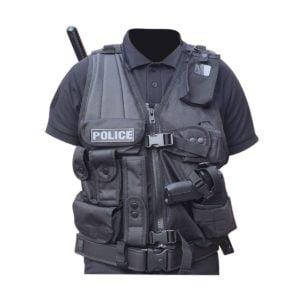 Gilet intervention avec holster pour PA ou Taser droitier Patrol Equipement