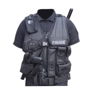 Gilet intervention avec holster pour PA ou Taser gaucher Patrol Equipement