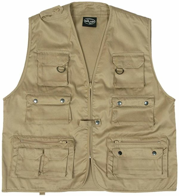 Gilet multipoches sans manches coyote tan Miltec