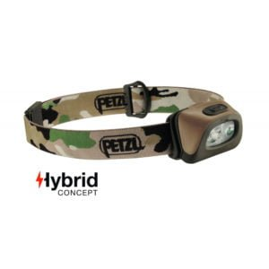 Lampe frontale 350 lumens Petzl camouflage ce TOE Concept