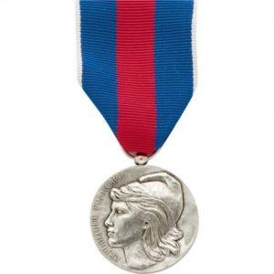 Médaille ordonnance service militaire volontaire argent DMB