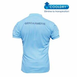 Polo gendarmerie cooldry bleu manches courtes - Patrol Equipement