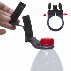 Porte bouteille pour ceinture et attache molle