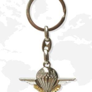 Porte clés métal parachutiste double face Patrol Equipement