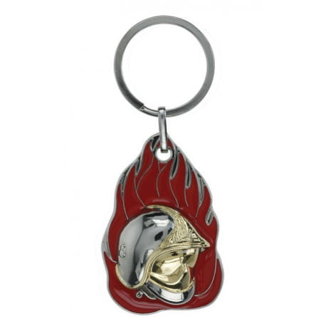 Porte clés métal sapeur pompier