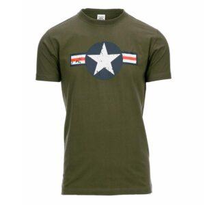 T-shirt D-DAY US Air force vert od Fostex Garments