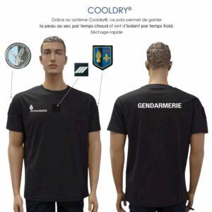 T-shirt cooldry Gendarmerie noir départementale - Patrol Equipement