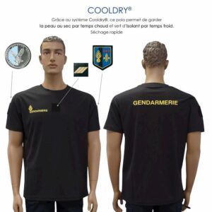 T-shirt cooldry Gendarmerie noir mobile - Patrol Equipement