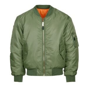 Veste bombers aviation vert od Fostex Garments