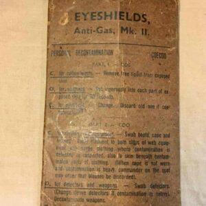 Lunette eyeshields anti-gaz mk2 anglais ww2