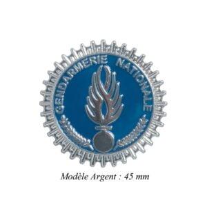 Médaille pour porte carte Gendarmerie Nationale argent Patrol Equipement