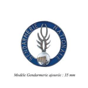 Médaille pour porte carte Gendarmerie ajourée Patrol Equipement