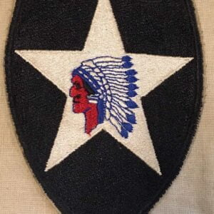 Patch 2nd infantry division US ww2