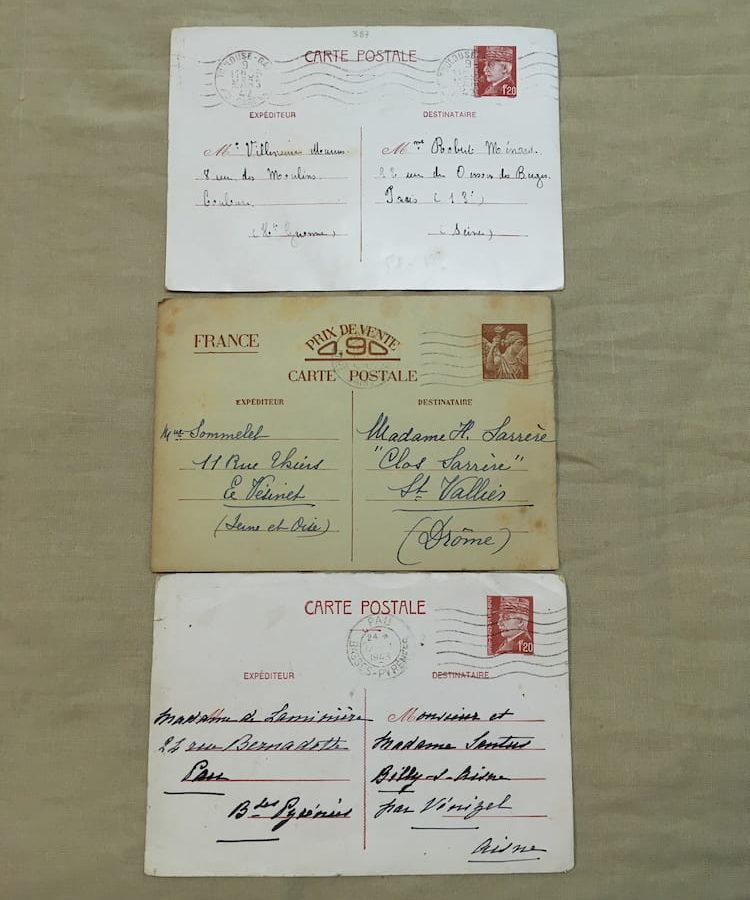 Carte postale Française ww2