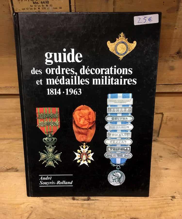 Livre Guide des ordres, décorations et médailles militaires