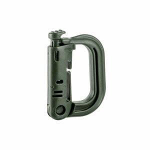 Mousqueton D-ring passant M.O.L.L.E. vert - Toe Concept