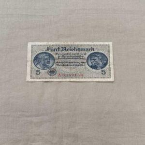 Billet 5 Reichsmark Allemand ww2