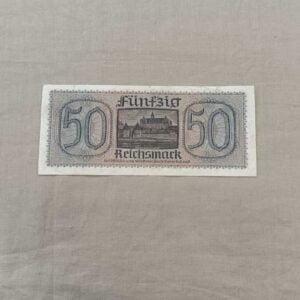 Billet 50 Reichsmark Allemand ww2