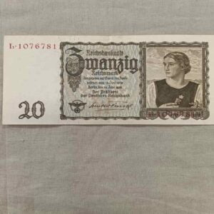 Billet 20 Reichsmark Allemand ww2