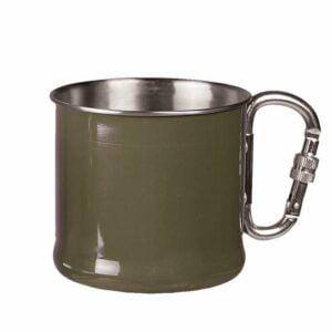 Gobelet mousqueton vert 500ml - Miltec