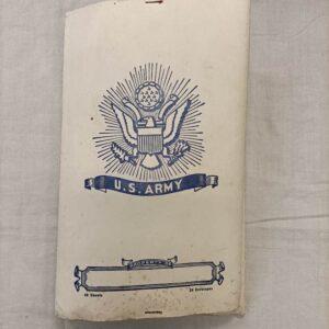 Papier à lettres US en pochette US ww2