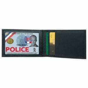 Porte-cartes mini horizontal cuir 2 volets GK