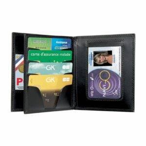Porte-cartes horizontal cuir 3 volets GK