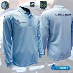 Polo Gendarmerie cooldry bleu manches longues Patrol Equipement