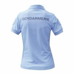 Polo Gendarmerie cooldry bleu manches courtes femme Patrol Equipement