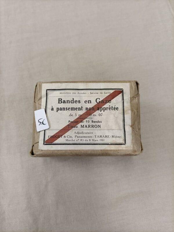 Pansement bandes en gaze Français